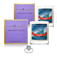 Set of 2 - Ocean Mist Jewelry Surprise Candle by Daniella's Candles