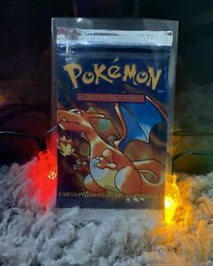 Base set Charizard Pokemon booster pack SEALED 1999 ESP
