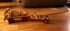 fagus Holzspielzeug, LKW (Paletten-LKW) + Anhänger mit Transportband/Förderband