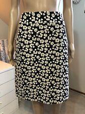 RRP$598 Anna Thomas Size 12 Black White Jacquard A-Line Skirt