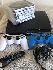 Sony CECH-2503B PlayStation 3 Slim 320GB Console Bundle  2 Controllers 7 Games!!