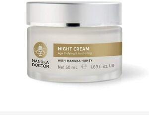 MANUKA DOCTOR apinourish ANTI-AGEING Restoring NIGHT CREAM Clearance RRP £30.00