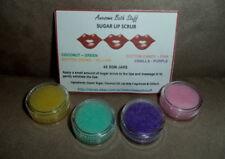 SUGAR LIP SCRUB 4 Pkt Handmade by Certified Aromatherapist