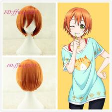 Love Live! Hoshizora Rin Orange Short Cosplay Party Wig + free wig cap