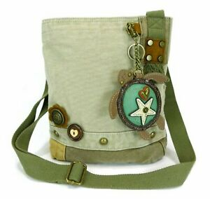 Chala Patch Crossbody Handbag with Detachable Sea Turtle Purse Charm