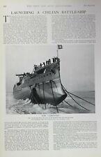 1903 PRINT THE LIBERTAD LAUNCHING A CHILIAN BATTLE-SHIP