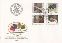 Schweiz  FDC Ersttagsbrief 1986 Schätze aus Museen Mi.Nr.1317-20