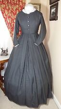 Civil War Reenactment Day Dress Size 12 Medium Gray