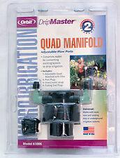Orbit 61006 Quad Manifold Adjustable-Flow Ports With Filter Drip Irrigation