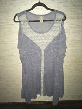 Faded Glory Size 3XL 22/24 Sleeveless Pull Over Blouse Stretchy