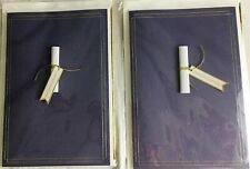Hallmark Signature Graduation Cards Congratulations Scroll Diploma Lot of 2