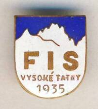 1935 FIS Nordic World Ski Championships enamel PIN Badge SKIING rare