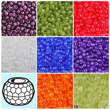 BeadTin Transparent 9mm Faceted Barrel Pony Beads (500pcs) - Color choice