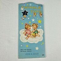 Vintage 1960s Twinkle Tots Peek A Book Toddler Angels Frances Wosmek