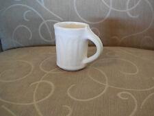 "Small Fluted Handmade Handcrafted Art Pottery Mug - ""SB"" on the bottom"