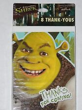 ~SHREK FOREVER AFTER ~~~8-THANK YOU NOTES WITH ENVELOPES PARTY SUPPLIES