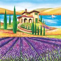 Servietten  Napkins 33x33cm  20 St. Pack. Toscana  Serviettentechnik Lavendel