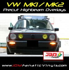 VW MK2 MK1 Yellow Headlight Overlays TINT VINYL GTI JDM EDM FRENCH JETTA GOLF