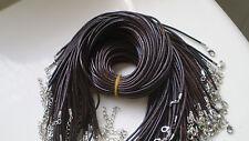 Wholesale Bulk lot 10 pcs Dark Brown PU Leather String 50cm Necklace Cords