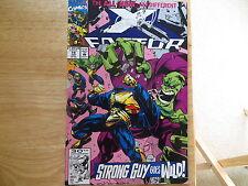 1992 VINTAGE MARVEL COMICS X-FACTOR # 74, NEW TEAM SIGNED BY PETER DAVID