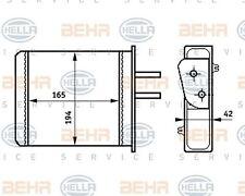 8FH 351 313-351 HELLA Heat Exchanger  interior heating