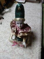 Vintage Music Box Creepy Harlequin Halloween Works Feels Haunted Porcelain