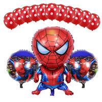 13pcs Hero Spiderman Balloons Latex Polka Dot Balloon Birthday Party Decoration