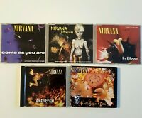 NIRVANA ♦ Lot 5 x MAXI-CD ♦ inc. USA / GEFFEN PROMO, B-SIDES & MANY LIVE !