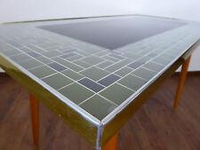 Mid Century 50s 60s Tisch Beistelltisch Couchtisch DDR Mosaik Glastisch Retro