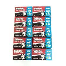10Pack Razor Blades Gillette Super Thin Stainless Single Edge New Improved 60pcs