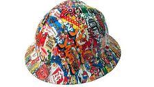 Hydrographic Sticker Bomb MSA V-Guard Full Brim Hard Hat