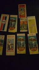 vintage road map lot sunoco exxon gulf fina