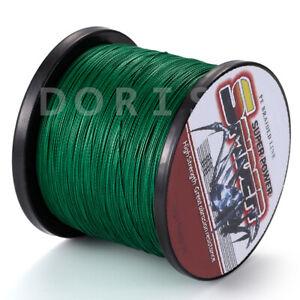 Power Spider 100M-2000M 10LB-300LB Moss Green Dyneema PE Braided Fishing line