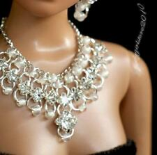 """Rhinestone Necklace and Earring Jewelry Set for 16"""" Tonner Tyler doll 002B"""