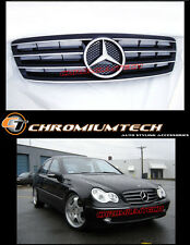 Mercedes C-Class W203 BLACK CHROME SPORT GRILL 2000-2007 Saloon and Estate Model