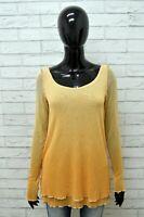 Maglia ROBERTO CAVALLI Donna Taglia Size S Maglietta Blusa Shirt Woman Cotone