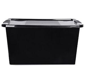 Ondis24 Aufbewahrungsbox Sammelbox Allzweckbox Stapelbox Klippbox L schwarz NEU