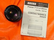 CARL ZEISS PLANAR 1:1.4 F50mm RED T* 6032243 CO-Y MOUNT CONTAX YASHICA AE LENS