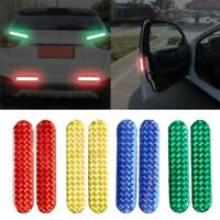 2Pcs Car Safety Reflective Tape Sticker Door Open Warning Stickers Reflector