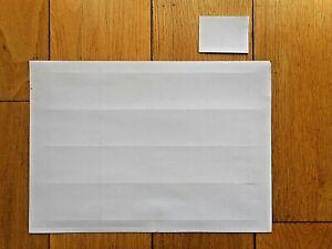 Plain White Shelf Edge Label Card Ticket 61 X 45mm 16 Labels per Sheet