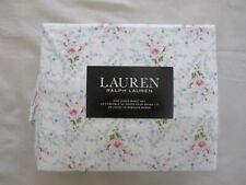 NEW 4pc Ralph Lauren Queen Sheet Set Cottage Chic Floral Blues Pinks & Green