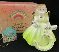 Josef Originals Birthday Girls Angel Figurine Age 5 Vintage Applause Nos 651638