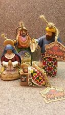 2004 JIM SHORE HEARTWOOD CREEK NATIVITY SET OF 4 ORNAMENTS - RARE