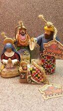 2004 Jim Shore Heartwood Creek Nativity Set Of 4 Ornaments - Rare
