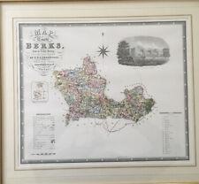 Vintage Map Of Berks Windsor Castle C&J Greenwood 1822 1823 Berkshire Framed