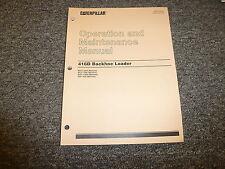 Cat Caterpillar 416D Backhoe Loader Owner Operator Maintenance Manual