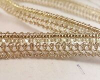 1.3cm- 1 metre beautiful gold sequins lace trimming edging for crafting decor