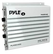 Pyle Plmra400 400 Watt 4 Channel Waterproof Marine Boat Audio Amplifier, White