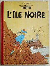 Tintin L'Île Noire HERGE B9 1954 éd Casterman