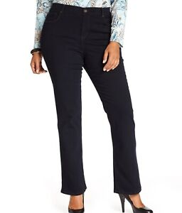 New Style /& Co Black Tummy Control Boot Leg Jeans Plus Sizes NWT MSRP $59 B0519